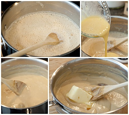 Butterscotch pudding cooking steps