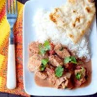 Chicken Tikka Masala is a traditional British recipe with Indian influence. An interesting blend of sweet, savory and spicy. From @NevrEnoughThyme https://www.lanascooking.com/chicken-tikka-masala/