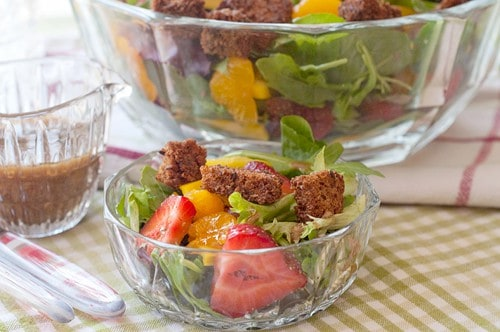 Spring Salad with Strawberries and Sweet Balsamic Dressing