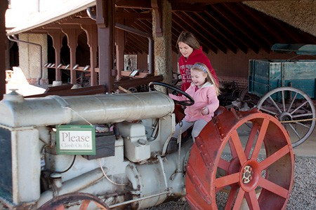 Tractor at Antler Hill Village