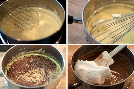 Egg Yolk Mixture for Flourless Walnut Cake
