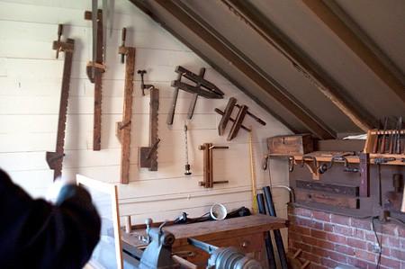 Wood working shop at Biltmore
