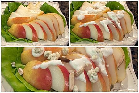 Assembling Pear Salad