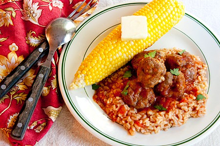 Tex-Mex Meatballs and Rice