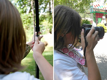 Aidan's learning archery and photography