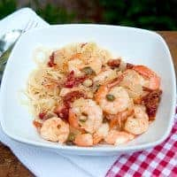 Mediterranean Shrimp with Angel Hair Pasta