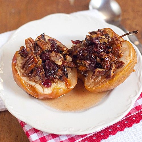 Baked Apples with Cranberries and Pecans