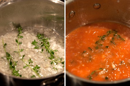 Making sauce for Buttery Barbecued Chicken