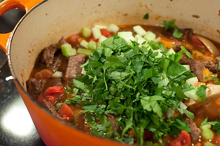 Add remaining ingredients to Garlicky Beef Stew