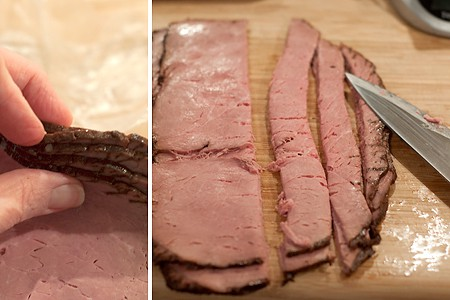Prepping roast beef
