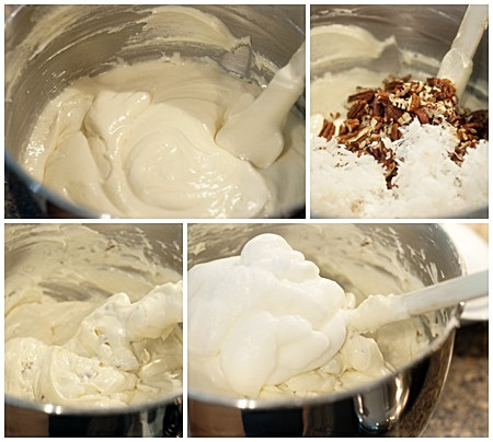 White Chocolate Cake Mixing Steps