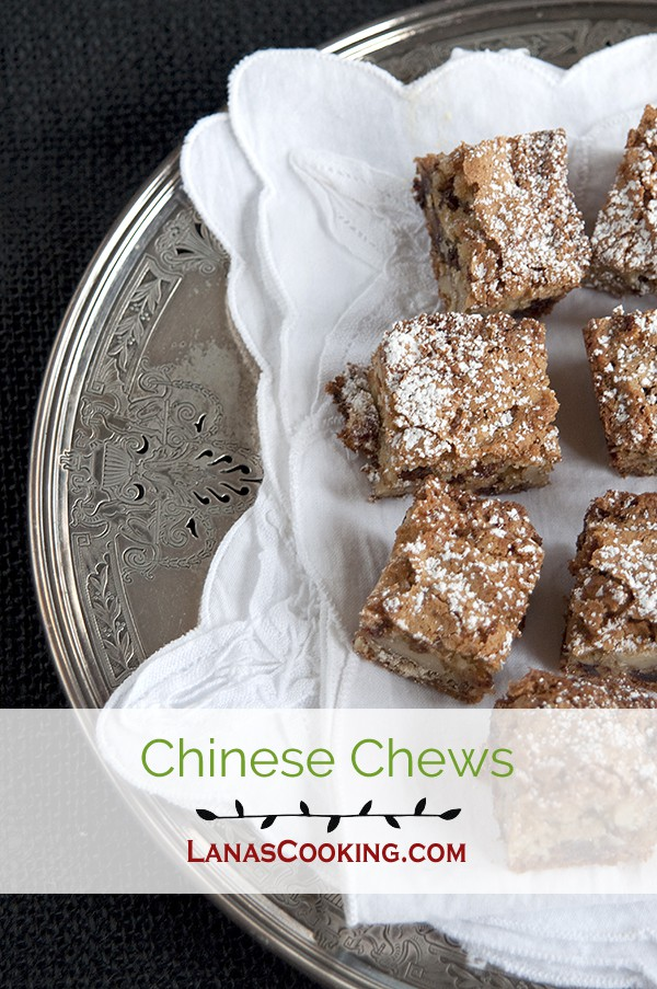 A very old, traditionally southern Christmas treat - Chinese Chews. From @NevrEnoughThyme http://www.lanascooking.com/chinese-chews/