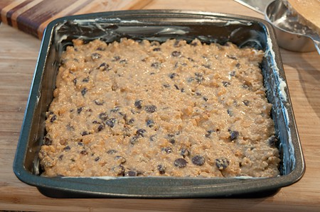 Graham Cookie Bars ready to bake