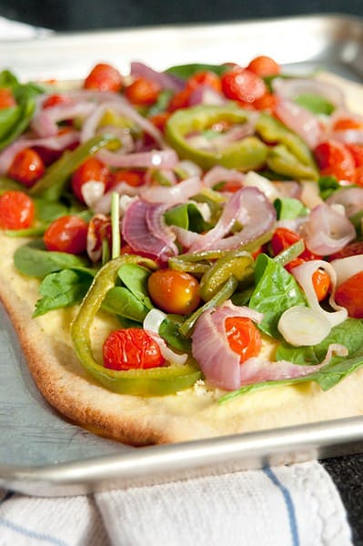 Roasted Veggie Pizza from Never Enough Thyme