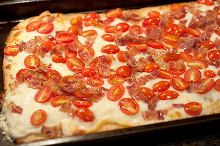 BLT Pizza Hot Out of the OvenBLT Pizza Hot Out of the Oven