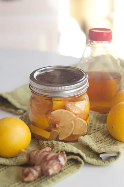 Lemon, Honey, and Ginger Soother for Colds and Sore Throats - An old-fashioned homemade lemon, honey, and ginger throat soother for colds and sore throats. From @NevrEnoughThyme http://www.lanascooking.com/lemon-honey-and-ginger-soother-for-colds-and-sore-throats