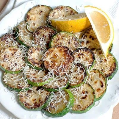 Pan Fried Zucchini with Lemon and Parmesan