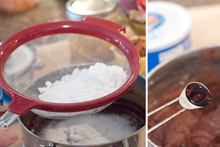 Add flour and vanilla to Betty Crocker 1957 Brownies
