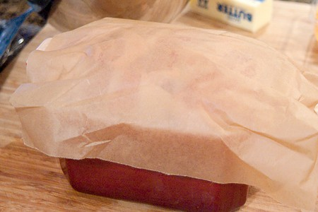 Cover the terrine with parchment