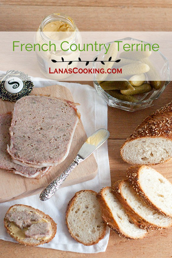 French Country Terrine - A classic French terrine made with ground pork, veal, and calves' liver. https://www.lanascooking.com/french-country-terrine