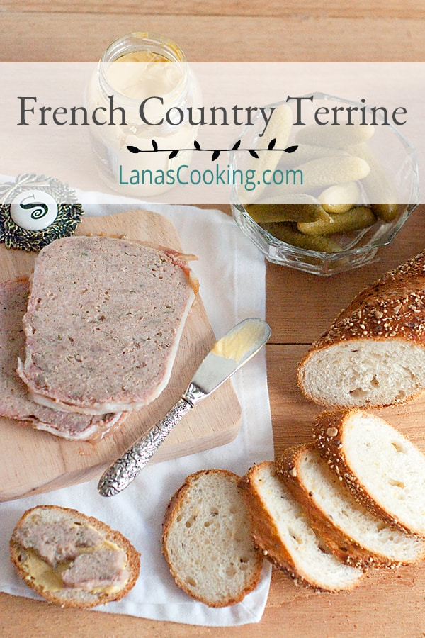 A classic French country terrine made with ground pork, veal, and calves' liver. The perfect elegant starter for a dinner party. https://www.lanascooking.com/french-country-terrine/