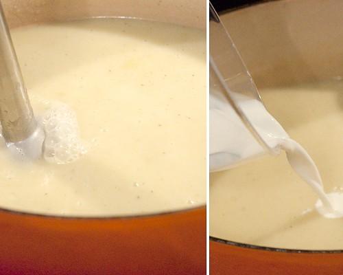 Pureeing Leek and Potato Soup