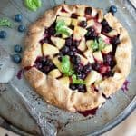 Pineapple-Blueberry-Basil Galette