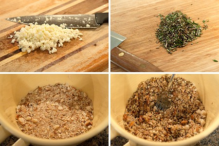 Bread crumb mixture for Roasted Rack of Lamb