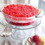 Strawberry-Banana Jello Mold