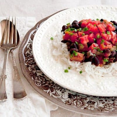 Black Beans and Rice with Ham