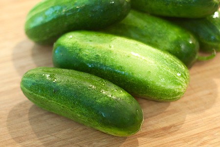 Fresh pickling or Kirby type cucumbers