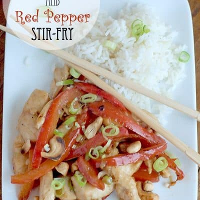 Cashew Chicken Stir-Fry with Red Peppers