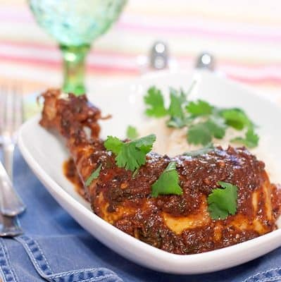 Coriander Chicken with Cilantro Rice