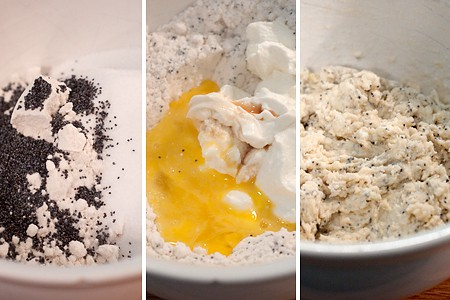 Mixing ingredients for Easy Poppy Seed Muffins