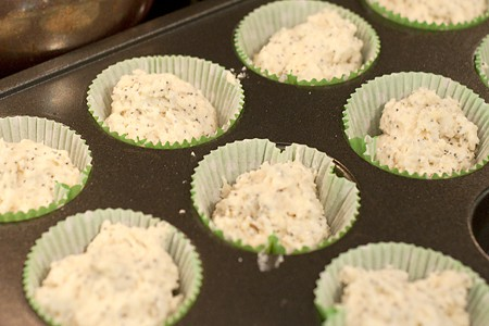 Easy Poppy Seed Muffins ready for the oven