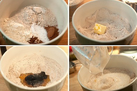 Mixing ingredients for Outback Bread Copycat