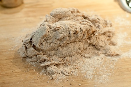 Shaggy dough mix for Steakhouse Honey Wheat Bread