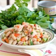 This cannellini (white kidney) bean and tuna salad is a great change of pace from the usual mayonnaise-based version. Enjoy it any time of year! https://www.lanascooking.com/cannellini-bean-and-tuna-salad/