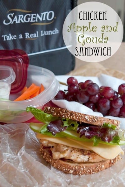 Grilled Chicken, Apple, and Gouda Sandwich
