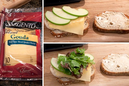 Assemble the Grilled Chicken, Apple, and Gouda Sandwich