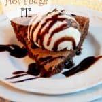 Vintage Hot Fudge Pie