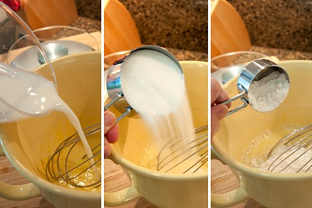Mixing Lemon Pudding Cake