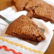 Chocolate Scones - A special dessert scone that is sweeter than a traditional scone with a crunchy sugary topping. Enjoy with a cup of tea or coffee. https://www.lanascooking.com/chocolate-scones/