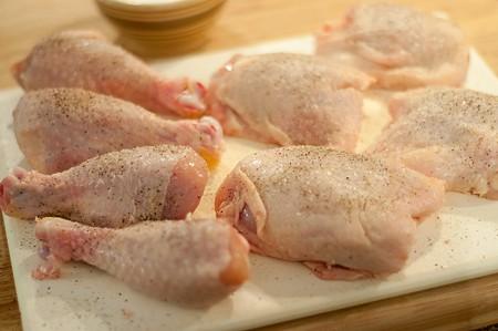 Prepping chicken for Paprika Chicken