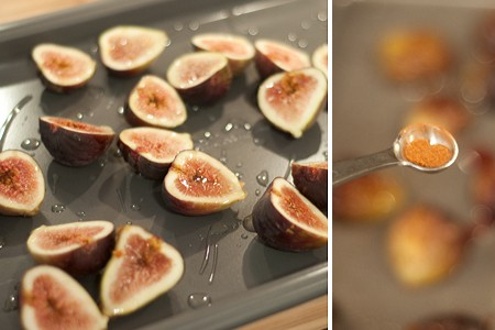 Prep figs for roasting - Roasted Figs with Gorgonzola