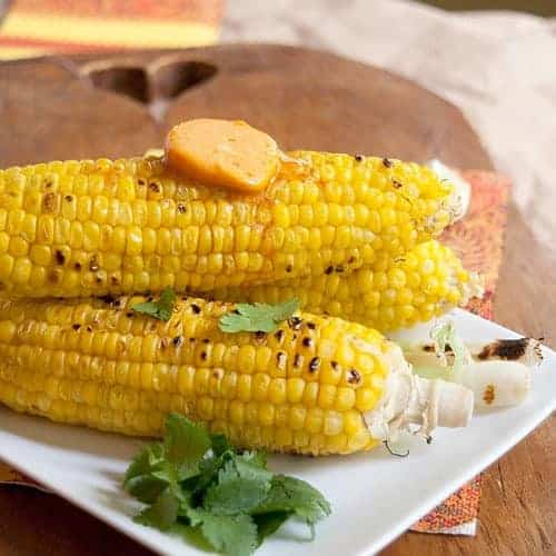 Fresh Corn and Scallions with Southwest Compound Butter