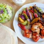 Grilled Chicken Skewer Fajitas