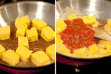 Add cheese and salsa to Sausage Cheese Dip