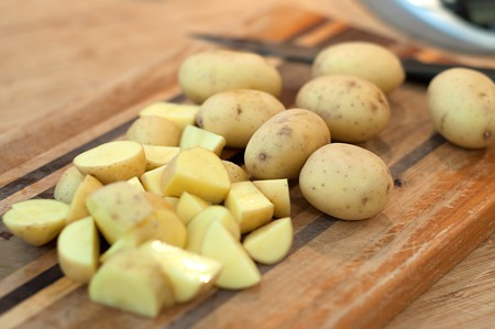 Prep potatoes for Vegetable Soup