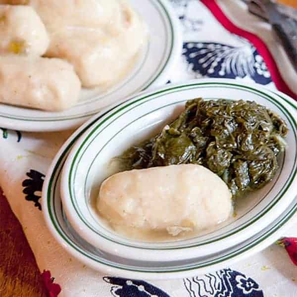 Corn dodgers are a very old Southern recipe served as an accompaniment to turnip greens. They are similar to a cornmeal dumpling. From @NevrEnoughThyme http://www.lanascooking.com/corn-dodgers